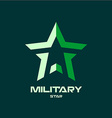 Military star logo template vector