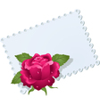 Lace napkin and rose vector