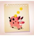 Piggy bank note paper cartoon vector
