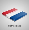 European flags set - netherlands vector
