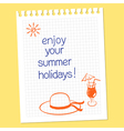 Enjoy your summer holidays vector
