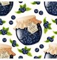 Blueberry jam seamless pattern vector