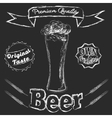 Chalk glass of beer vector
