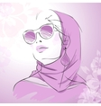 Fashion gorgeous woman portrait vector