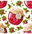 Raspberry jam seamless pattern vector