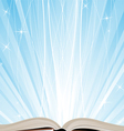 Book and sparkling light vector