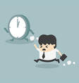 The time management businessman running vector