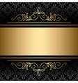 Black background with golden decorations vector