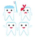 Teeth characters vector