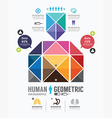 Infographic human geometric design vector