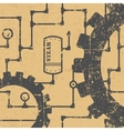 Steampunk pattern vector