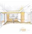 Modern interior design vector