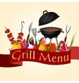 Bbq grill background vector