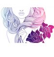 Girl and hair vector