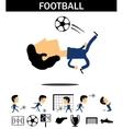 Football man vector
