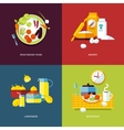 Set of flat design concept icons for food and vector