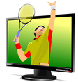 Al 0839 monitor and tennis vector