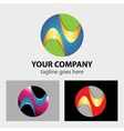 Logo circle abstract global media technology ico vector