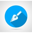 Flat icon for construction trowel vector