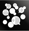 Circles and speak bubbles infographic template vector