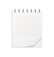 Notebook on a spring vector