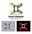 Logo abstract molecule logo engineering concept vector