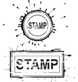 Set of grunge distressed stamps vector