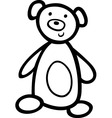 Teddy bear for coloring book vector