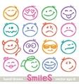 Hand drawn smiles vector