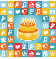 Birthday and party icons and signs vector