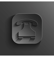 Phone icon - black app button vector