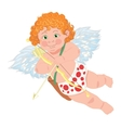 Cupid character template for greeting card vector