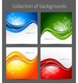 Set of wavy backgrounds vector