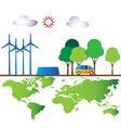 Green energy for world vector