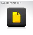 File icon gold vector