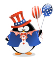 Patriotic penguin vector