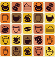 Seamless pattern with tea and coffee cups vector
