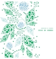Abstract blue and green leaves vertical frame vector