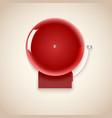 Red school bell vector
