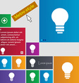 Light lamp idea icon sign metro style buttons vector
