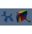 Umbrella and balloon circus vector