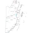 Belize black white map vector