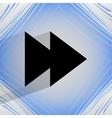 Multimedia control flat modern web design on a vector
