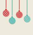 Christmas hanging balls with copy space for your vector
