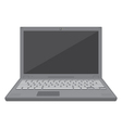 Flat design laptop vector