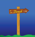 Signboard for the beach vector
