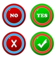 Buttons yes and no vector
