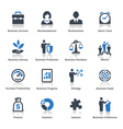 Business icons set 1 - blue series vector