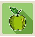 Sketch style green apple vector