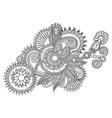 Original line art ornate flower design ukrainian vector